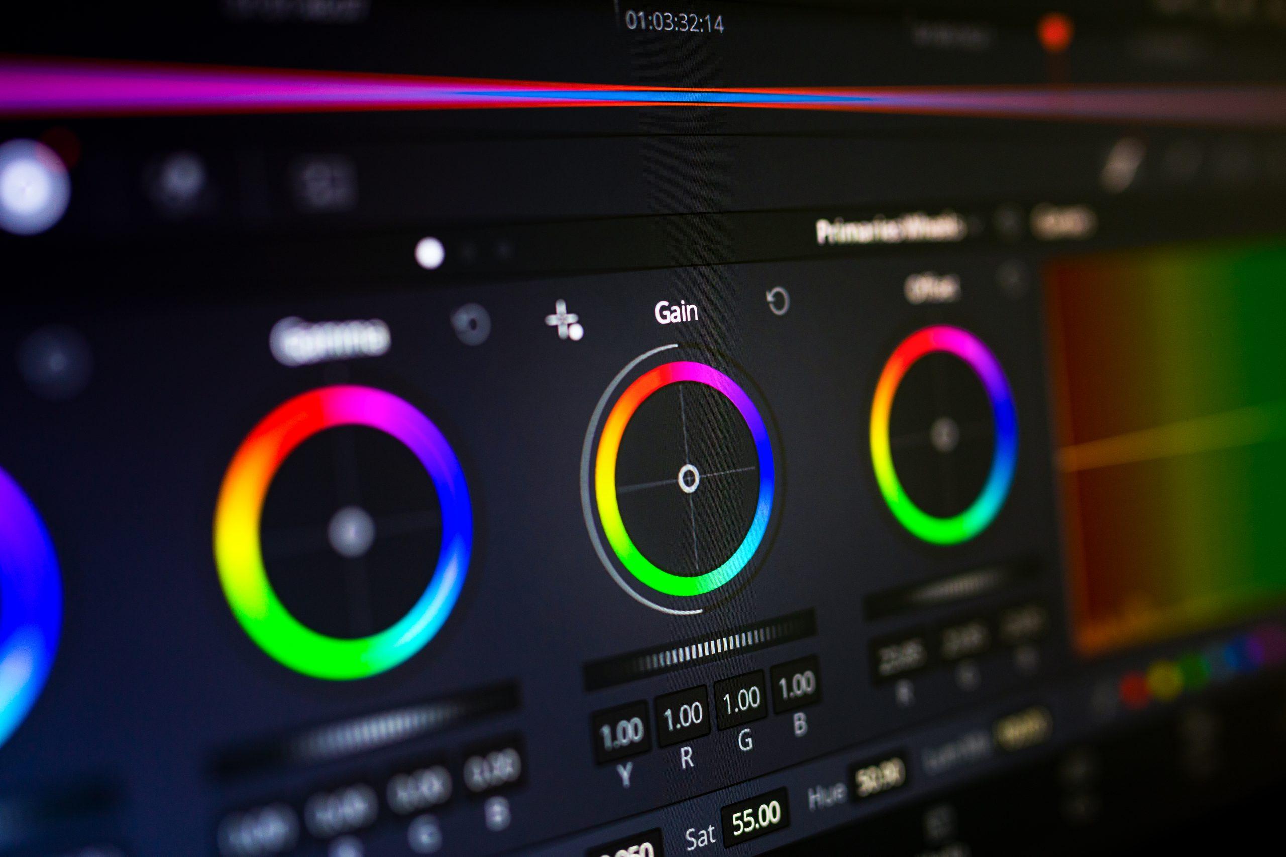 Colour Grading Colour Wheels