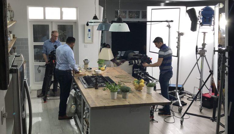 Filming Camera Crew Still Heinz Food Shoot
