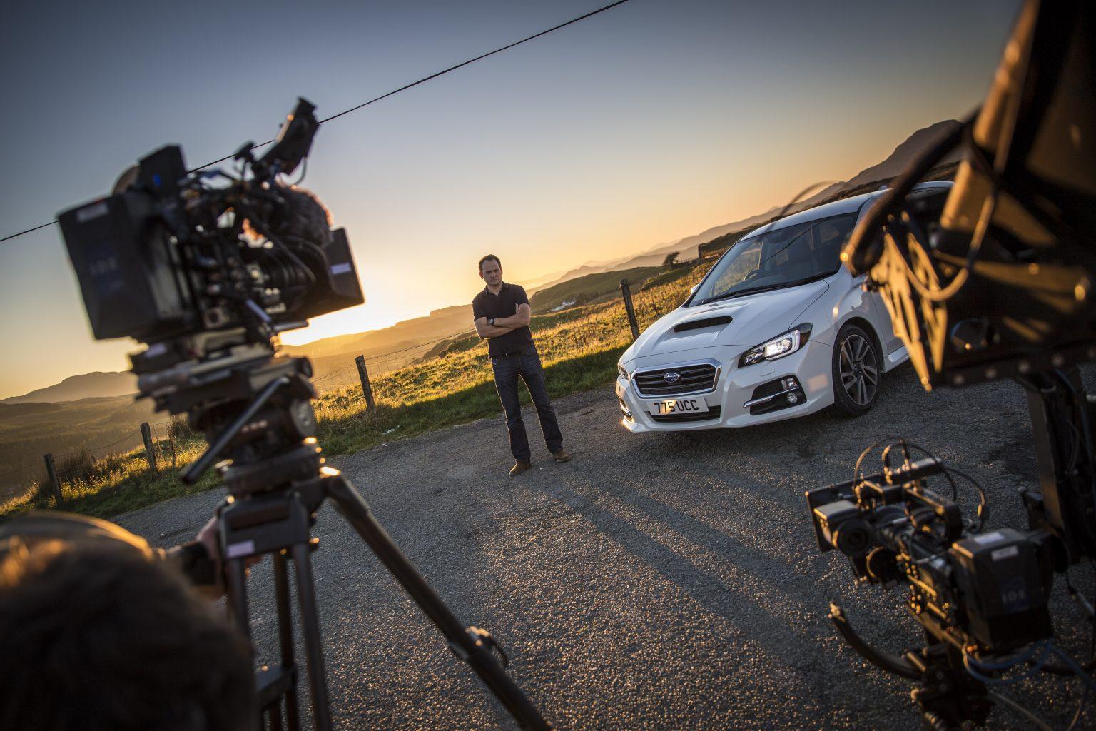 Filming Camera Crew Still Subaru Shoot